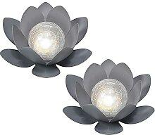 N/AB 2PCS Lampe Solaire exterieures Jardin-Fleur