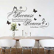 N/AB Stickers Muraux Salon-Famille,Citations