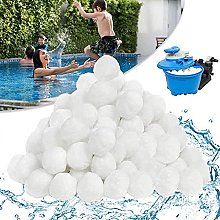 N\C Boule filtrante en fibre pour piscine, filtre