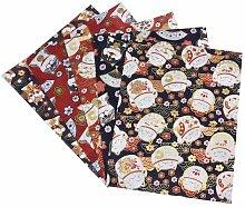 N/Y 5 pièces 50x50 cm Tissu de Coton Patchwork de