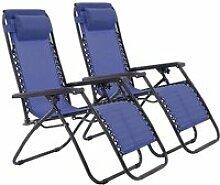 NAIXIAFU Lot de 2 TRANSAT ,Chaise de camping -