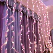 NAK Guirlande lumineuse USB 300 LED rose plume