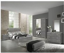 Naktam - chambre complète 160x200cm aspect chêne