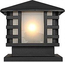 NAMFHZW Lampe de pilier anti-pluie en métal