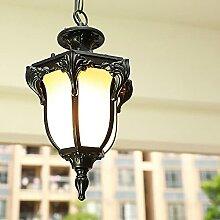 NAMFHZW Lanterne extérieure en métal Lustre