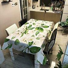 Nappe à fleurs vertes pour Table De pique-nique,