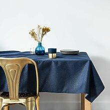 Nappe bleu nuit et dorée 145x350