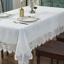 Nappe brodée pour table à manger, linge de table