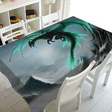 Nappe de Table carrée rectangulaire, vert, Art du