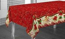 Nappe décoration Noel : Père Noel / 240 x 150 cm