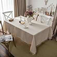 Nappe en lin et coton, couverture de Table