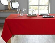 Nappe rectangulaire rouge en coton 150x200