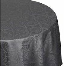 Nappe ronde 180 cm jacquard 100% coton spirale