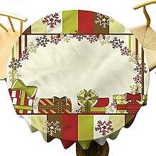 Nappe ronde à rayures pour décoration de table