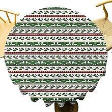 Nappe ronde de Noël 127 cm pour décoration de