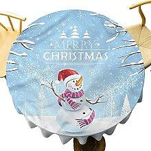 Nappe ronde de Noël de 127 cm pour table de salle