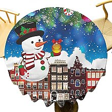 Nappe ronde de Noël de 178 cm pour décoration de