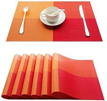 Napperon en PVC pour Set de Table, Plaid,