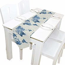 Napperons 13x70 pouces Long Chemin de Table Carte