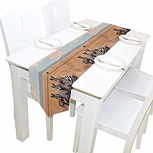 Napperons de table 13x90 pouces de long chemin de