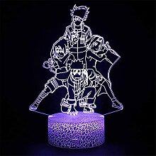 Naruto Lampe 3D LED Illusion Veilleuse Cadeau avec