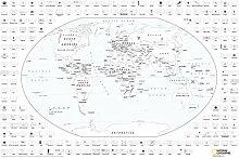NATIONAL GEOGRAPHIC: Carte du monde à colorier et