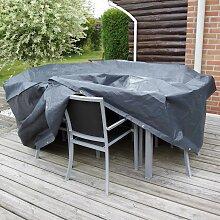 Nature Housse pour table rectangulaire de jardin