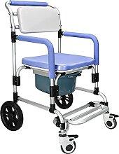 NBMNN 4 en 1 avec Chaise Toilette roulettes Chaise
