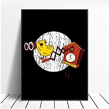 Nbqwdd Horloge Coucou Impression sur Toile Mur Art