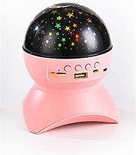 NC Haut-Parleur Bluetooth LED, projecteur de