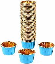 NC Lot de 50/100 moules à dessert pour muffins et