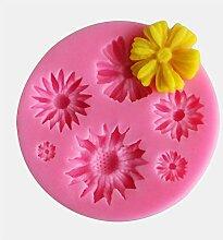 NC Moule à dessert en silicone en forme de fleur