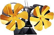NC Ventilateur de poêle à 12 pales alimenté par