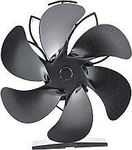 NC Ventilateur thermique à 6 pales pour poêle à