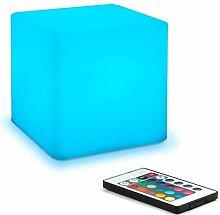 NDHENG 40cm LED Cube Lumière, Imperméable Cube