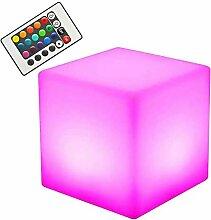 NDHENG Cube LED Light, Table d'appoint,