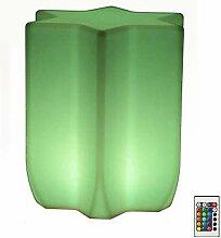 NDHENG LED Cube Tabouret Imperméable Réglable 16