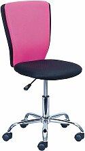 NEO - Chaise de Bureau Rose et Noire - Rose