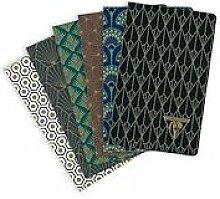 Neo Deco carnet piqûre textile 7,5x12cm 48 pages