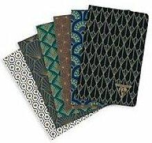 Neo Deco carnet piqûre textile 9x14cm 96 pages