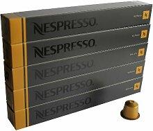 Nespresso Lot de 50capsules de café Volluto