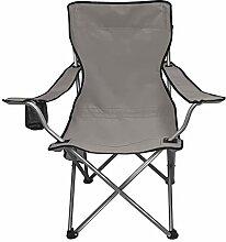 NETILGEN Chaise de camping pliante grise de 136,1