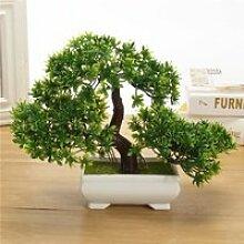 NEUFU 18cm Artificielle Bonsaï Arbre Plante Pot