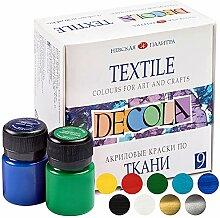 Nevskaya Palitra - Lot de peintures textile   9 x