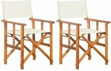 NEW&2753Belle Lot de 2 Chaises de jardin Moderne