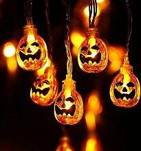 NEXVIN Halloween Decoration Guirlande (Citrouille)