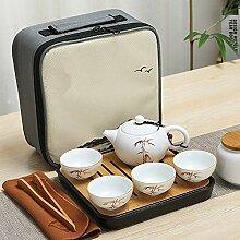 NHP Service à thé de Voyage Portable, Quatre
