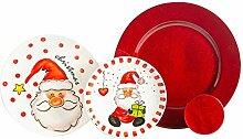 Nicola Spring 16 pièces Art de la Table de Noël