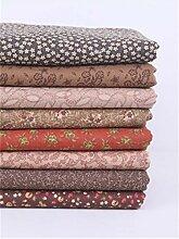 Nicole Knupfer Lot de 8 tissus en coton pour