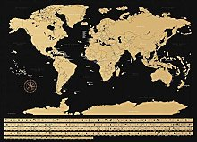 NIMAXI Poster Carte du Monde à Gratter XXL- Fond